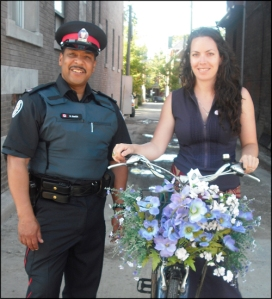 Officer Hugh Smith & Yvonne Bambrick (bike union)