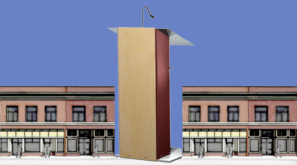 desk podium plans